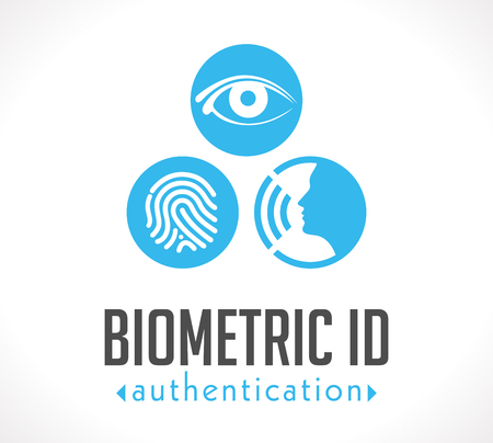 biometric: Logo - Biometric ID authentication Illustration