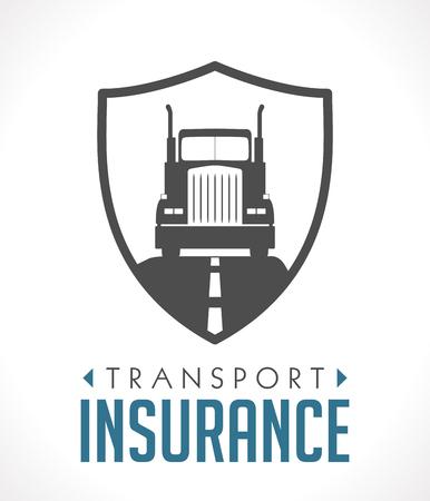 Logo - transport and logistics insurance concept