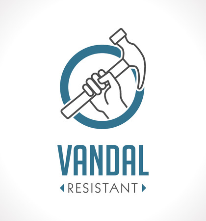 Vandal proof - Vandal resistant - High durability concept Illustration