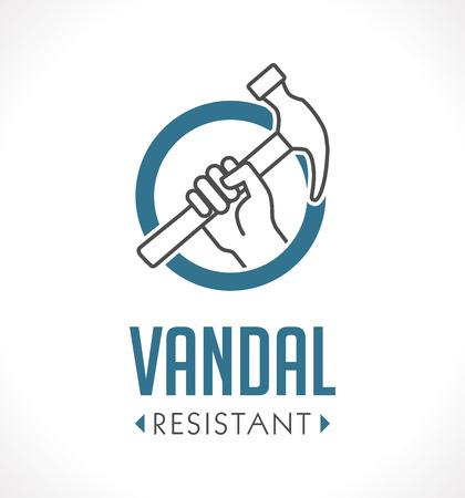 Vandal proof - Vandal resistant - High durability concept Banco de Imagens - 80383166