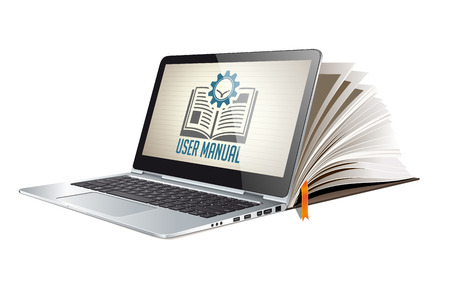 Book as knowledge base - User guide manual concept Imagens - 82527517