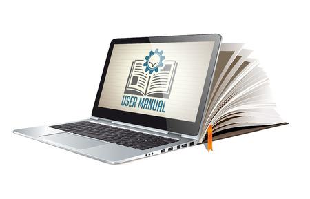 Book as knowledge base - User guide manual concept 版權商用圖片 - 82527517