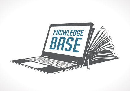 E-learning and knowledge base concept. Ilustrace