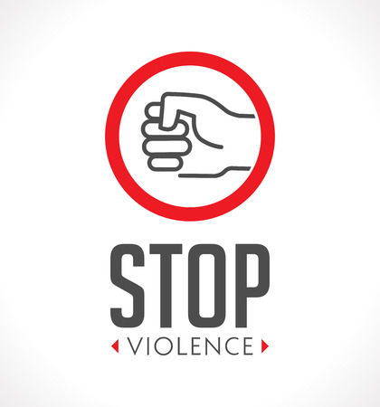 Logo Stop Violence Against Women Concept Fist As Symbol Of