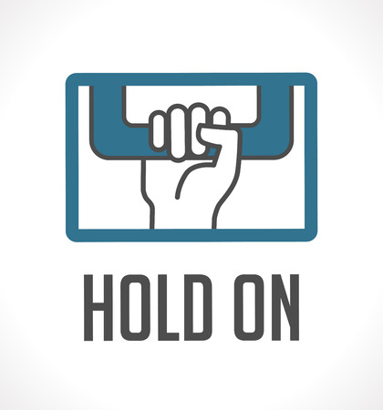 Logo - hold on concept Vector illustration.