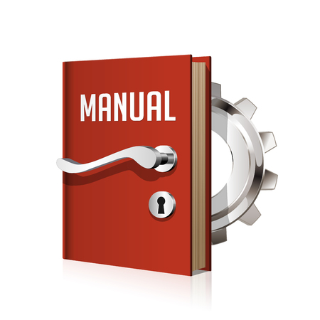 Manual book as door to knowledge Ilustração