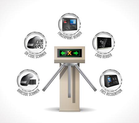 개찰구 입구 - 지하철역 보안 시스템