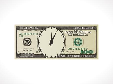 100 ドル - アメリカ合衆国通貨 - 時間はお金の概念