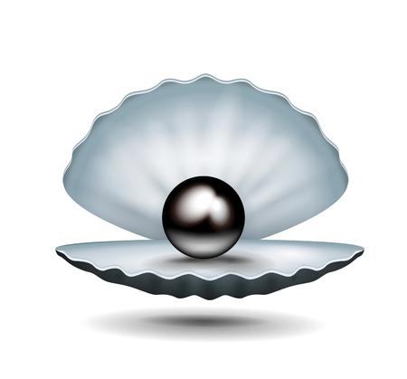 Pearl inside shell.