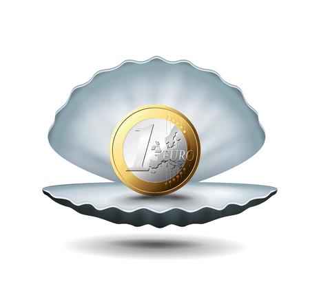 Coin icon illustration.