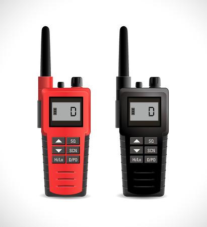 Satellite communications concept - walkie talkie cb radio Illustration