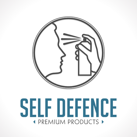 Pepper spray - self defense concept logo