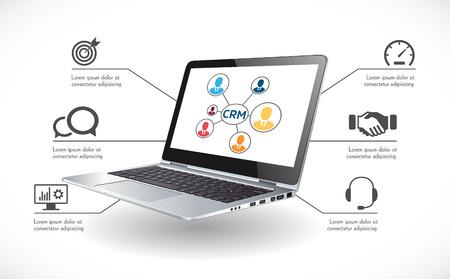CRM software concept - Customer relationship management system