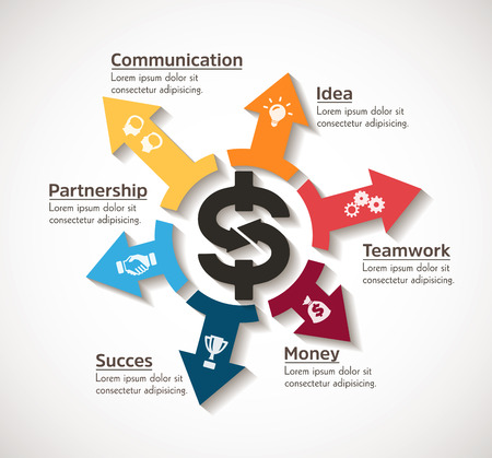 Dollar as business symbol - infographic concept