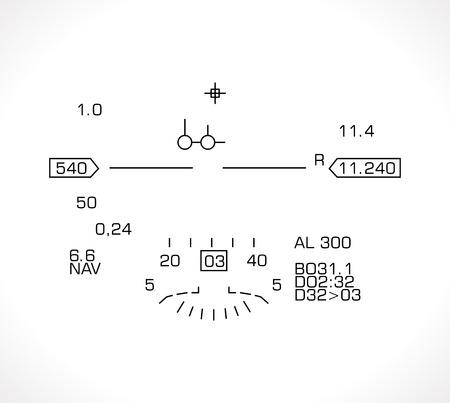 HUD display - jet fighter flight nawigation system