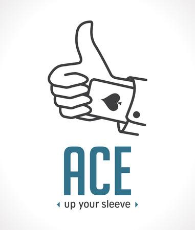 Ace up your sleeve - most important decisive argument Illustration