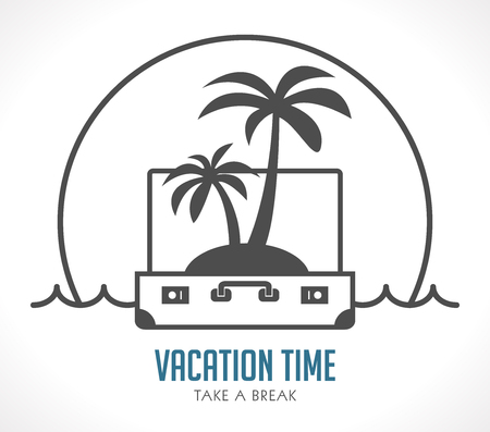 Vacation time - travel suitcase concept - travel bag Illusztráció