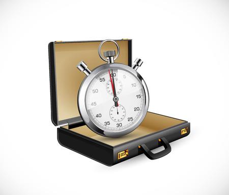 Geschäftskoffer - Finanzkonzept - Aktentasche offen und leer