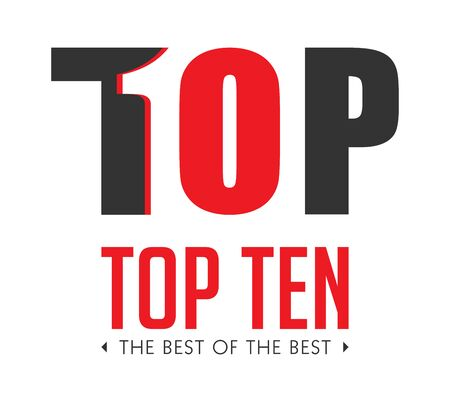 Top ten - list of bestsellers - the best of the best concept