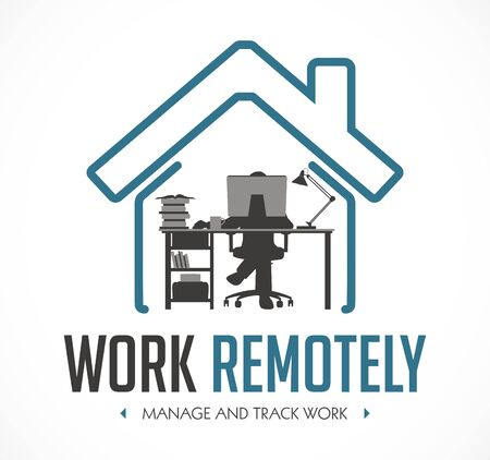 Work Remotely concept - stay at home and work - jobs for freelancers
