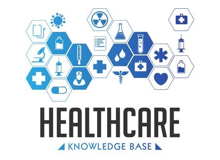 Healthcare knowledge base - medical online repository concept - elearning