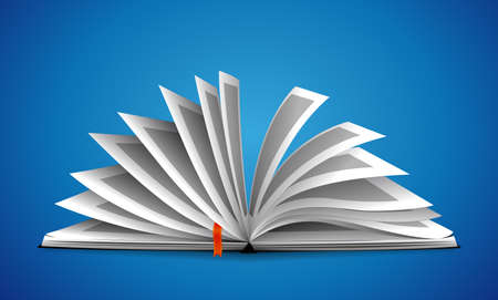 Opened book as knowledge concept