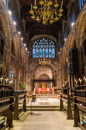 choir: ENGLAND, MANCHESTER - 15 NOV 2015: Manchester Cathedral choir