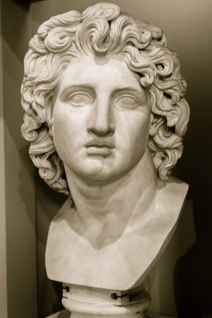 ENGLAND, LIVERPOOL - 15 NOV 2015: Bust of Alexander the Great, captured at Walker Art Gallery Editorial