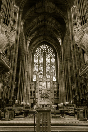 choir: ENGLAND, LIVERPOOL - 15 NOV 2015: Liverpool Cathedral choir and organs