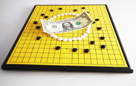 encircling: Strategy of Currency - USD 2 Stock Photo