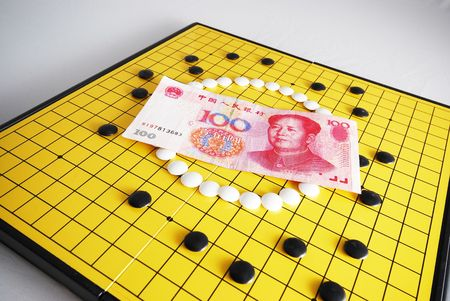 encircling: Strategy of Currency - RMB 3 Stock Photo