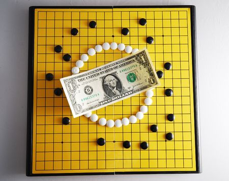 encircling: Strategy of Currency - USD 4 Stock Photo