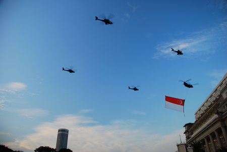 National Day Fly by 4 Editorial