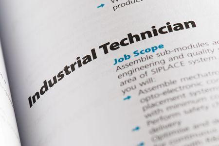 career fair: Occupation - Industrial technician 1