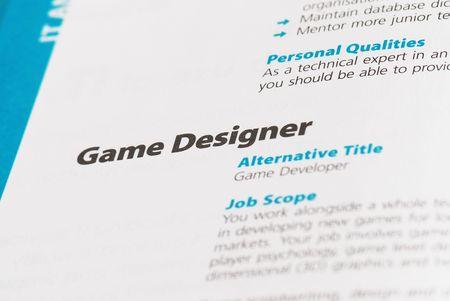 java script: Occupation - Game Designer
