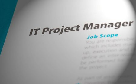java script: Occupation - IT Project Manager 2 Stock Photo