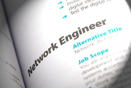 java script: Occupation - Network Engineer  Stock Photo