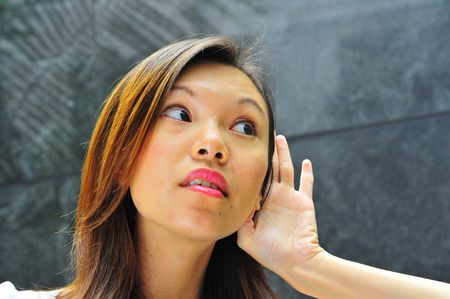 hand gestures: Asian Girl with Hand gestures - 5