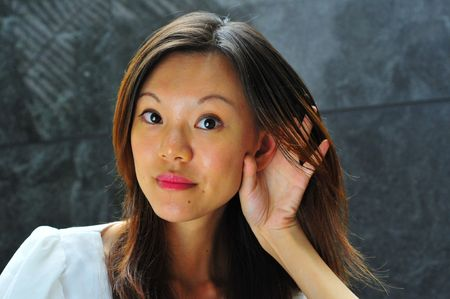 hand gestures: Asian Girl with Hand gestures - 3