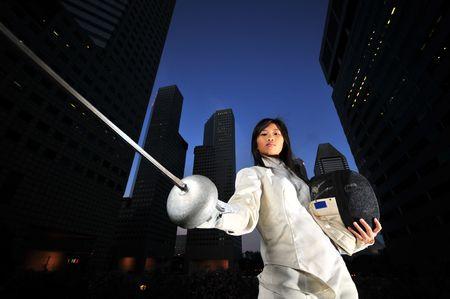 Business Fencer -1  photo