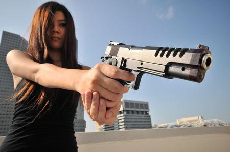 femme policier: Agent  Killer 17 Banque d'images