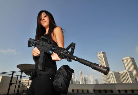 policewoman: AgentKiller 2 Stock Photo