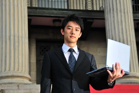 Business Man with Notebook 1