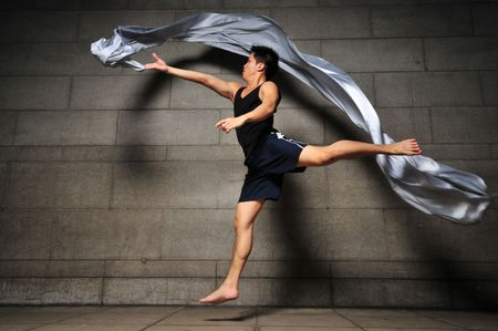 Contemporary Fabric Dance 4 photo