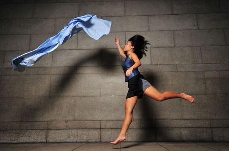 Contemporary Fabric Dance 3 photo