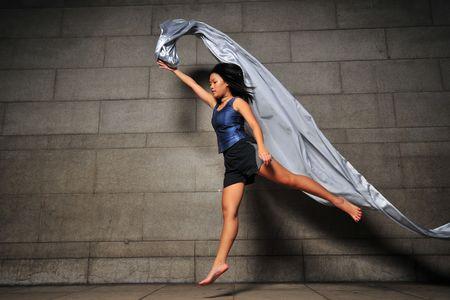 Contemporary Fabric Dance 2 photo