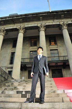 Asian Executive Waiting Stock Photo - 3839241