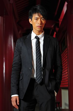 Smart Asian Man In Business Suit photo