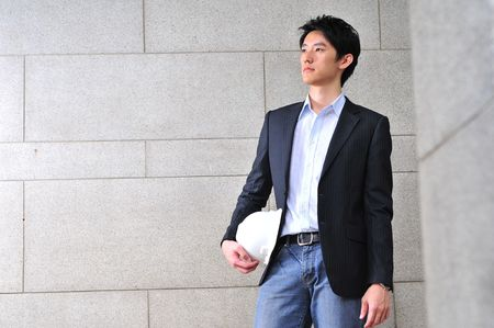 Asian Male Engineer Stock Photo