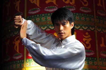 Young Asian Man Training Martial Arts Stock Photo